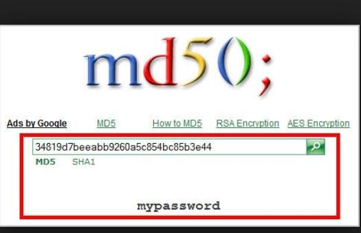 ứng dụng của md5
